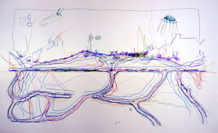 Ant Farm 2 - wall drawing